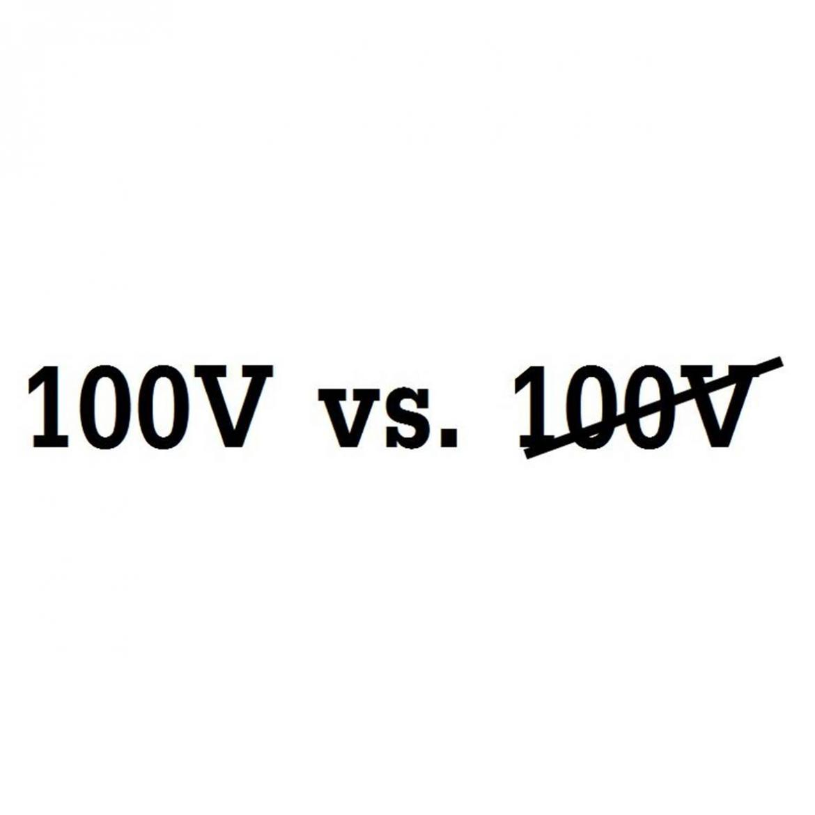 100V vs nizkoimpedancne