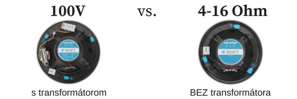 100V systém vs nízkoimpedančný porovnanie