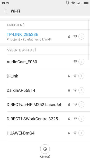 iEAST nájdenie WiFi