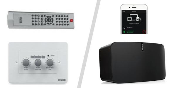 Ovládanie hlasitosti hudby - ovládač hlasitosti alebo sonos aplikácia